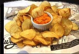 Batatas Chips Com Cheddar Cremoso