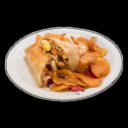 Wrap De Frango Com Bacon - Quente