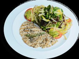 Salada Aguzzo com Paillard de Frango