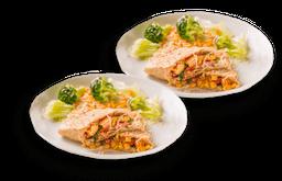 Combo Caipira (2 Wraps prensados de frango)