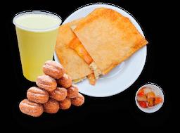 Pastel + Caldo 500ml + 5 MiniChurros