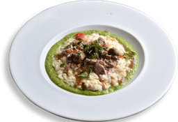 Risotto di Filetto di Manzo All` Erbe