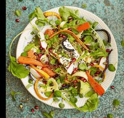 Salada de Cenoura Assada e Avocado