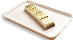 Barra de chocolate recheada com nutella crocante