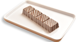 Barra de chocolate recheada com pão de mel e doce de leite