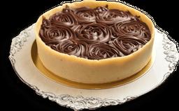Torta de Marzipan com Ganache de Chocolate Meio Amargo