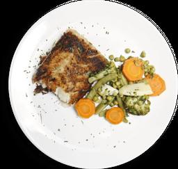 Filet Grelhado Com Legumes