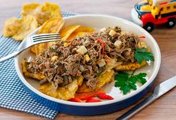 Porção De Patacones Com Guacamole
