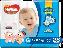 Fralda Huggies Turma da Mônica Tripla Proteção G