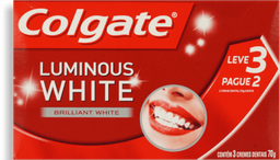 Creme Dental Colgate Luminous White 70 g Leve 3 Pague 2