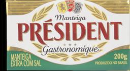 Manteiga President  Com Sal 200 g