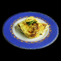 Lasanha Com Massa De Ovos, Brócolis Com Alho E Molho Branco