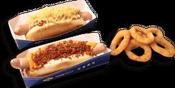 Promoção dogs: 2 dogs + 1 porção individual + 1 molho