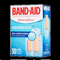 Band-Aid Curativo Aqua Block Com 30