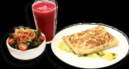 Crepe + Salada + Suco