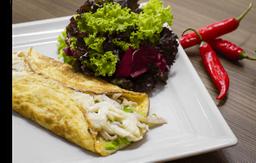 Omelete de Peru + Salada