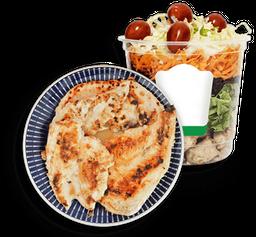 Salada de pote especial (750ml) + Filé de frango grelhado