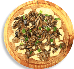 Pizzeta De Mussarela Com Mix De Cogumelos