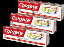 Kit Creme Dental Colgate Total 12 Clean Mint 3 U