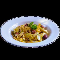 Fettuccelle Com Carciofi E Olive