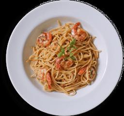 Spaghetti con Gamberi, Aglio, Olio e Peperoncino