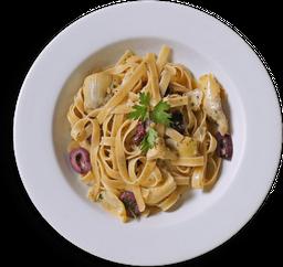 Fettuccelle con Carciofi e Olive