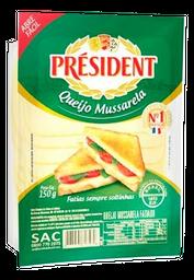 Queijo Mussarela Président Fatiado 150 g