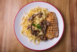 Pasta - Frango e Cogumelos
