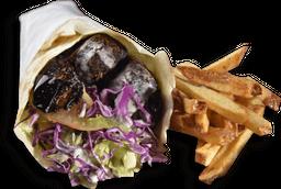 Kebab de Falafel + Fritas