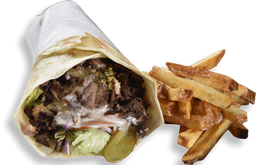 Kebab de Linguiça + Fritas