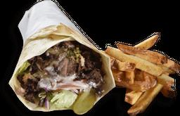 Kebab de Pernil + Fritas
