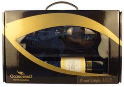 Kit Vinho Occhio Nero Pinot Grigio I.G.P. 750 mL Com 1 Taça