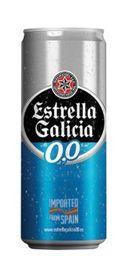 Cerveja Estrella Galicia Lata 0,0% Álcool Lata 330ml