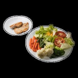 Marmitex de Salada e Frango Grelhado