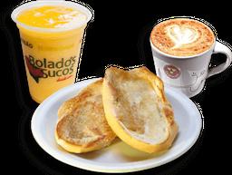 Pão na Chapa + Café + Suco