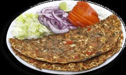 Lahmajun de Carne + Salada + Molho