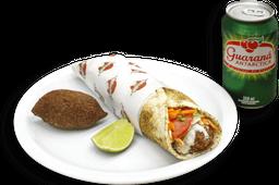 Kebab, Shawarma de Kafta +  Batata frita ou kibe + Bebida