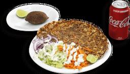 2 Unidades de Lahmajun + Batata ou Kibe + Bebida em Lata