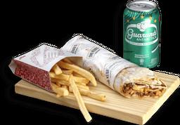 Anatólia Kebab-Carne Mussarela + Batata Rústica Ou Kibe + Bebida