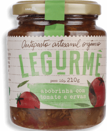 Antepasto Legurmê Orgânico Abobrinha Com Tomate E Erva 210 g