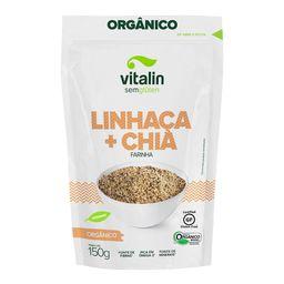 Farinha De Linhaça Vitalin Dourada Chia Orgânica 150 g