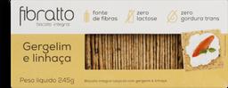 Biscoito Fibratto Integral Gergelim E Linhaça 245 g