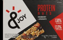 Barra de Cereais &JOY Protein Nuts Cranberry e Amaranto 2 Un