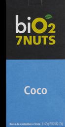 Barra Cereal Bio2 7 Nuts Coco e 7 Castanhas 75 g