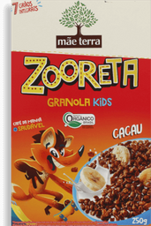 Cereal Mãe Terra Zooreta Orgânico De Cacau 250 g