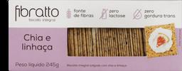 Biscoito Fibratto Integral Chia E Linhaça 245 g