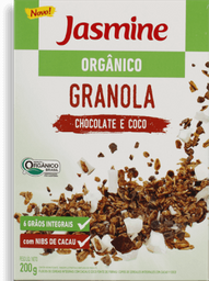 Granola Jasmine Orgânica Chocolate e Coco 200 g