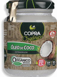 Óleo De Coco Copra Extra Virgem Orgânico 200 mL