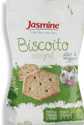 Biscoito Jasmine Alho E Orégano Integral 80 g
