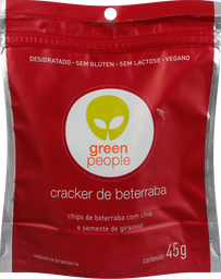 Biscoito Greenpeople Crackers Beterraba 45 g